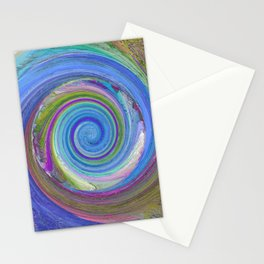 256 - Spiral abstract design Stationery Cards