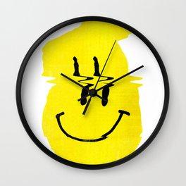 Smiley Glitch Wall Clock