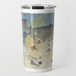 A day off at the beach - 1800s  Travel Mug