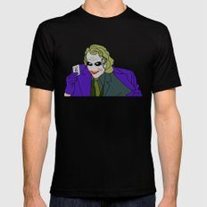 Why so serious? Black Mens Fitted Tee MEDIUM