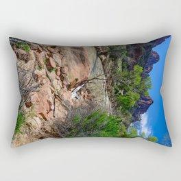The_Watchman - Spring in Zion_National_Park, UT Rectangular Pillow