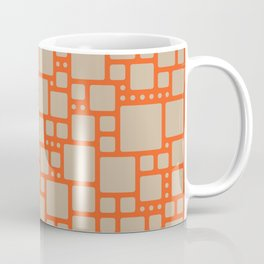 abstract cells pattern in orange and beige Coffee Mug