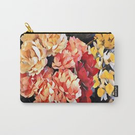 Peaches and Cream Floral Bouquet Carry-All Pouch