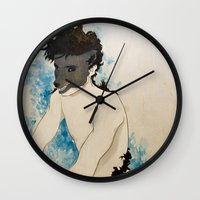 beast Wall Clocks featuring Beast by Cat Rocketship