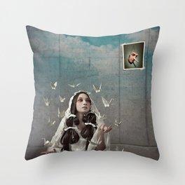 The Concrete Room Throw Pillow