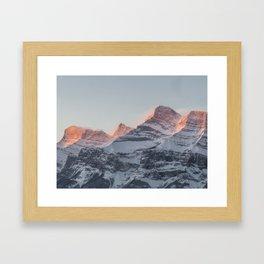 Rundle Mountain Framed Art Print