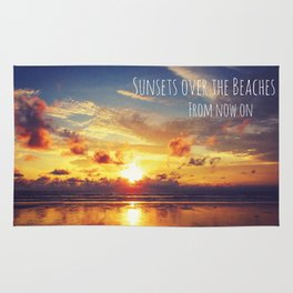 Sunsets Over The Beaches Rug