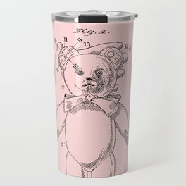 Teddy Bear Patent Pink Nursery Travel Mug