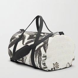 Werewolf attack Medieval etching Duffle Bag