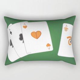 poker of glances Rectangular Pillow