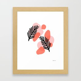 palms and blobs Framed Art Print