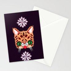 Lil Bub Geometric Pattern Stationery Cards