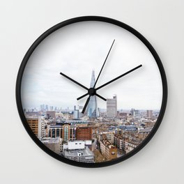 City Skyline View of the Shard, London Wall Clock