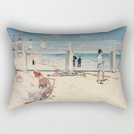 Charles Conder - A Holiday At Mentone Rectangular Pillow