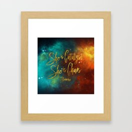 She is catalyst. She is Chaos. Illuminae Framed Art Print