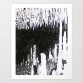 Cave Drawing IV Art Print