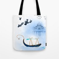 voyage Tote Bags featuring VOYAGE by dirdamal
