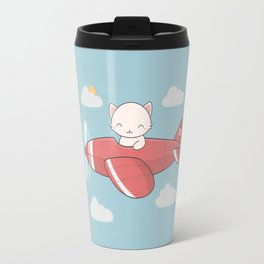 Kawaii Cute Flying Cat Travel Mug
