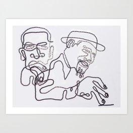 031: Monk+Coltrane - 100 Hoopties Art Print