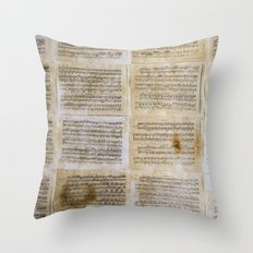 unplayed piano Throw Pillow
