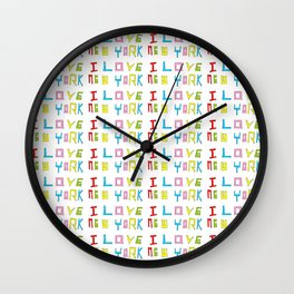 I love New york -New york,New yorker,Manhattan,queens,Bronx,big apple,Times square Wall Clock