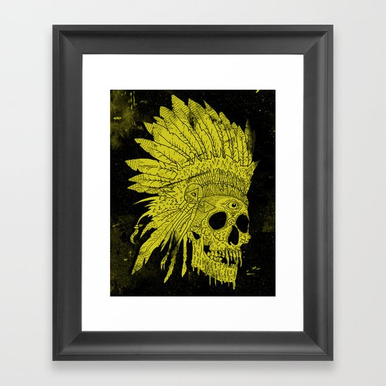 Kid Chief Framed Art Print