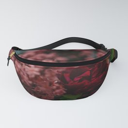 Dark moody pink red roses Fanny Pack
