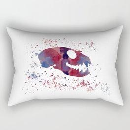 Meerkat Skull Rectangular Pillow