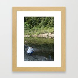 Testing the Waters Framed Art Print