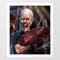 chris evans Art Prints featuring Chris Slade by AndreKoeks
