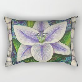 Stargazer Lily in the Lilac Verse Rectangular Pillow