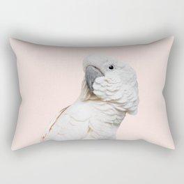 Cockatoo Parrot Photography | Blush Pink | Peach | Happy | Tropical | peek-a-booFun | Paradise Rectangular Pillow
