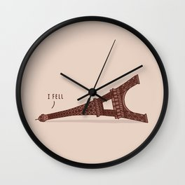 I Fell Wall Clock