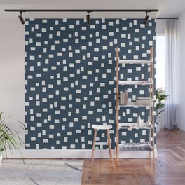Rectangles 1 | Pattern in Indigo and White Wall Mural