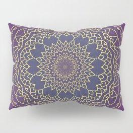 Mandala - purple and gold Pillow Sham
