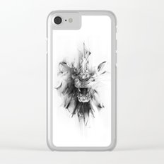 STONE LION Clear iPhone Case