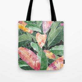 Watercolor tropics painted foliage Tote Bag