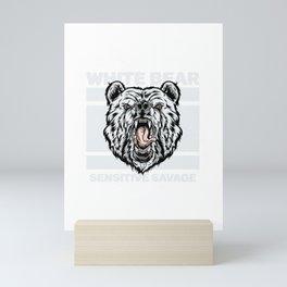 polar bear for people who like sensitive savages  Mini Art Print