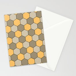 Honeycombs op art beige Stationery Cards