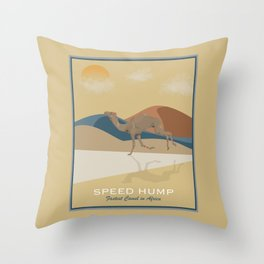 Speed Hump - Fastest Camel in Africa Throw Pillow
