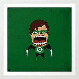 Screaming Green Lantern Art Print