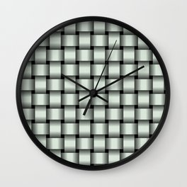 Pastel Green Weave Wall Clock