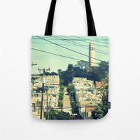 san francisco Tote Bags featuring San Francisco by Mr and Mrs Quirynen