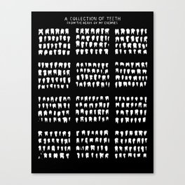 A Collection of Teeth Canvas Print
