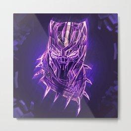 Black Panther Fan Art Metal Print