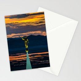 Bountiful Sunset - Moroni Statue - Utah Stationery Cards