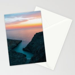 Greek paradise landscape digital oil painting Stationery Cards