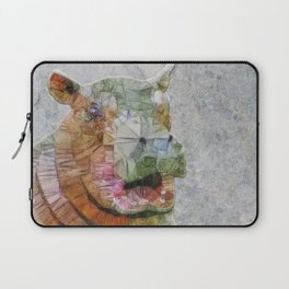 abstract hippo Laptop Sleeve