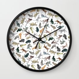 Nature Cats Wall Clock