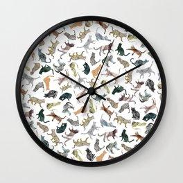 Nature Cats Wall Clock